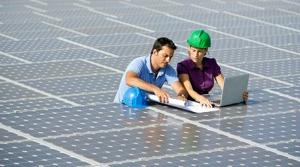 There is a global trend in the use of solar energy. Photograph: iStock/LL28