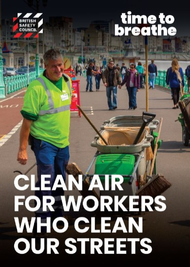 Workers who clean our streets placard
