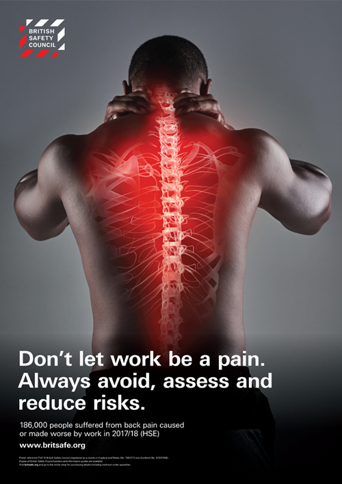 Don't let work be a pain. Always avoid, assess and reduce risks
