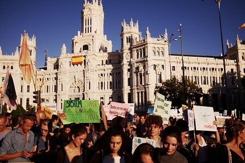 Climate Change Protests In Madrid, 2019 09 27