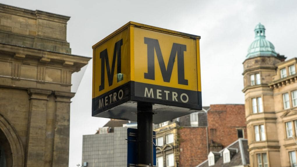 Tyne And Wear Metro Sign Post Photo ORR